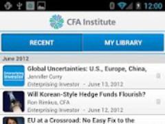 CFA Institute Mobile App 1.5.8 Screenshot
