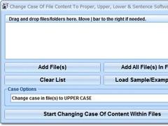 Change Case Of File Content To Proper, Upper, Lower & Sentence Software 7.0 Screenshot