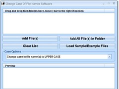 Change Case Of File Names Software 7.0 Screenshot