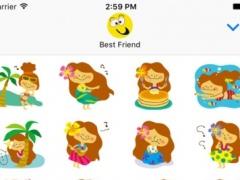 Cheerful Girl ● Emoji Stickers Pack 1.0 Screenshot