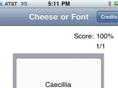 Cheese Or Font 1.2 Screenshot