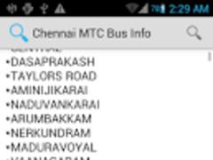 Chennai MTC Info 1.0 Screenshot