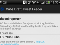 Chicago Cubs TweetMonitor 1.3 Screenshot