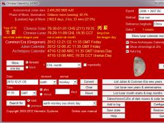 Chinese Calendrics 16.06 Screenshot