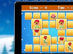 Christmas Flowers Matching Cards - Christmas Games 1.0 Screenshot