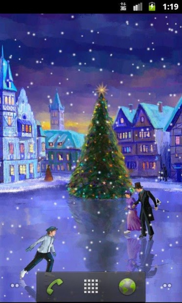 Christmas Rink Live Wallpaper 3000 Free Download