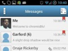 chromisBlu Free Go SMS Theme 1.3 Screenshot
