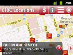 CIBC ATM and Branch Locations 1.9 Screenshot