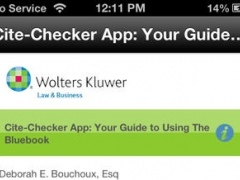 Cite-Checker App: Your Guide to Using the Bluebook 1.1 Screenshot