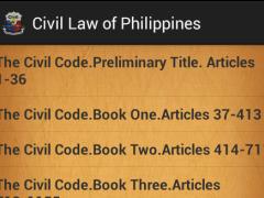 Civil law of Philippines 1.1 Screenshot
