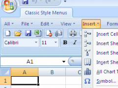 Classic Style Menus for Excel 2007 4.4.10 Screenshot