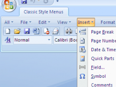 Classic Style Menus for Office 2007 4.4.10 Screenshot
