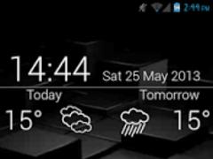 Clear Clock - UCCW Skin 1.2 Screenshot