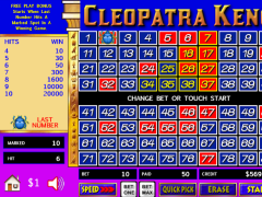 Cleopatra keno game king