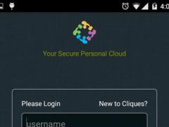 Cliques-Secure Personal Cloud 2.2.0 Screenshot