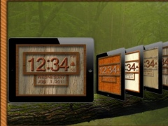 Clock 3D Wood HD 3.1 Screenshot