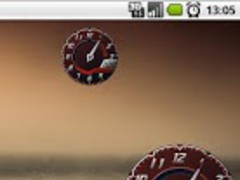 Clock Battery Lambo Red Free 1.5 Screenshot