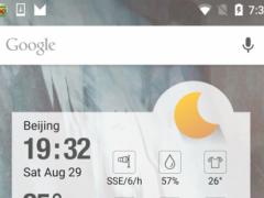 Clock weather elegant 1.1 Screenshot