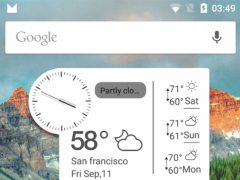 Clock Weather Small Clock 3.0.1 Screenshot
