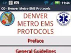 CO-Denver Metro EMS Protocols 5.070115 Screenshot