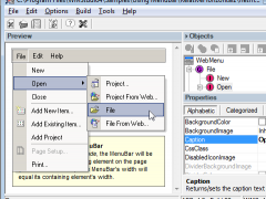 Coalesys WebMenu for JSP 7.0 Screenshot