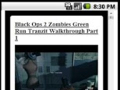 COD Black ops 2 Zombies App 0.1 Screenshot