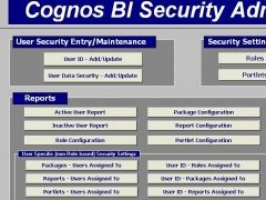 Cognos BI Security Administration App 2.1 Screenshot