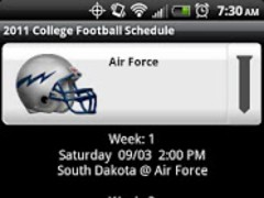College Football Helmet Sched 1.1 Screenshot