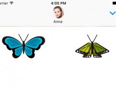 Color Butterfly Stickers for iMessage 1.0 Screenshot