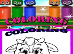 Coloring Fun kids coloring book paintbox Cow Chicken games free Edition 1.0 Screenshot