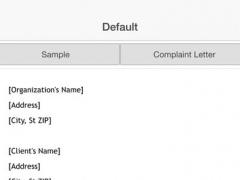 Complaint Letter 3.0 Screenshot