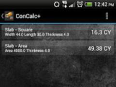 ConCalc - Concrete Calculator  Screenshot