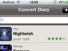 Concert Diary 1.0 Screenshot