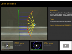 Conic Sections 1.0.3 Screenshot