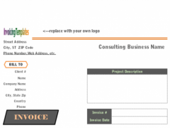 Consulting Invoice Template 1.30 Screenshot