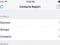 Contacts Report 1.0 Screenshot