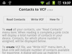 Contacts2VCF 1.0.4 Screenshot