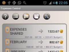 Control Expenses Plus 1.47 Screenshot