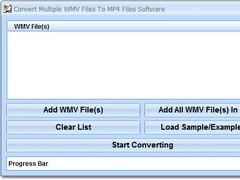 Convert Multiple WMV Files To MP4 Files Software 7.0 Screenshot