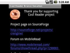 Cool Reader Bronze Donation 1.1 Screenshot