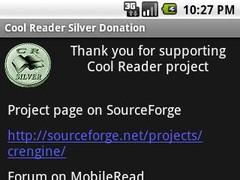 Cool Reader Silver Donation 1.1 Screenshot