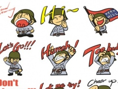 Cool Soldier Stickers! Nice Pack! 1.0 Screenshot