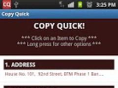 Copy Quick! PRO-Copy2Clipboard 3.0 Screenshot