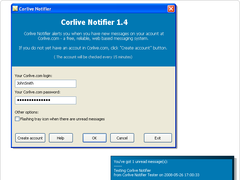 Corlive Notifier 1.41 Screenshot