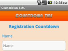 Countdown TMS 1.0 Screenshot