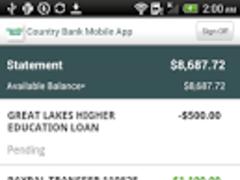 Country Bank Mobile App 3.4.0.2 Screenshot