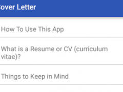 Cover Letter 8.0 Screenshot