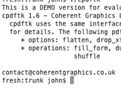 cpdftk 1.6 Screenshot