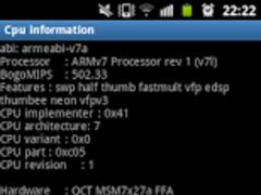 CPU Information 1.0 Screenshot