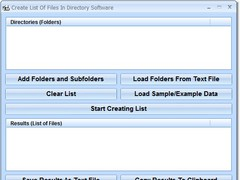 Create List Of Files In Directory Software 7.0 Screenshot